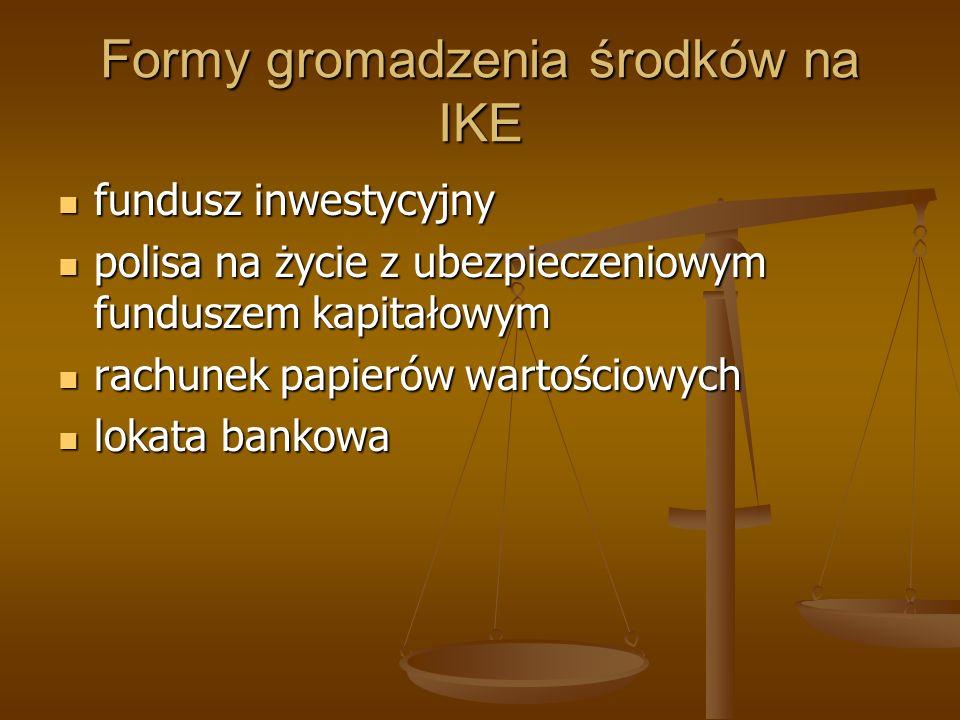 Formy gromadzenia środków na IKE