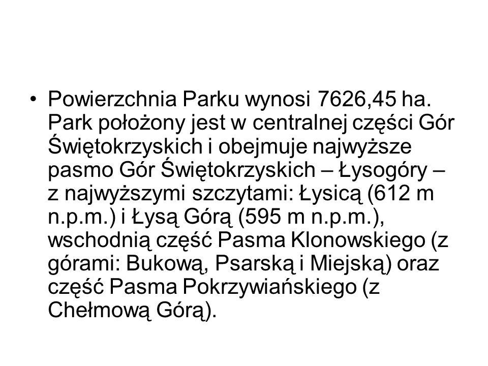 Powierzchnia Parku wynosi 7626,45 ha