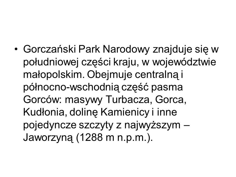 Gorczański Park Narodowy znajduje się w południowej części kraju, w województwie małopolskim.