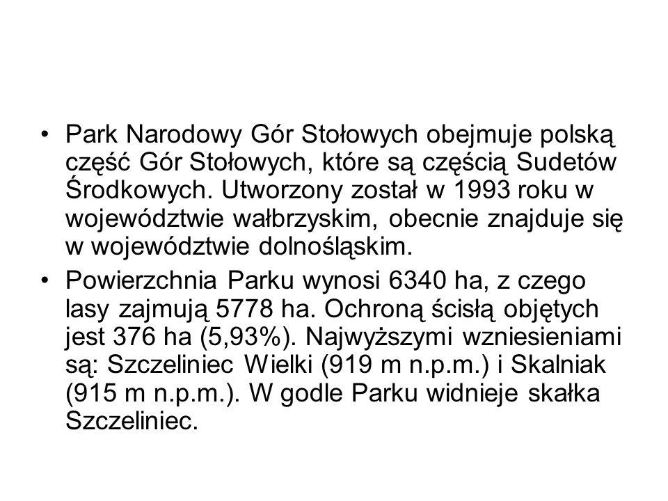 Park Narodowy Gór Stołowych obejmuje polską część Gór Stołowych, które są częścią Sudetów Środkowych. Utworzony został w 1993 roku w województwie wałbrzyskim, obecnie znajduje się w województwie dolnośląskim.