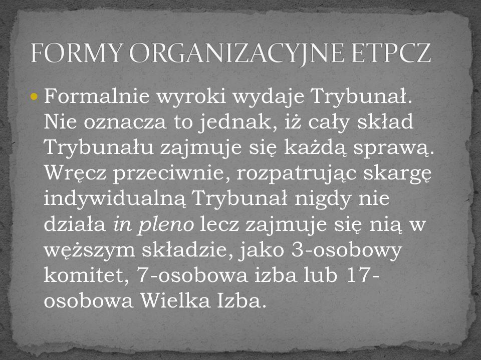 FORMY ORGANIZACYJNE ETPCZ