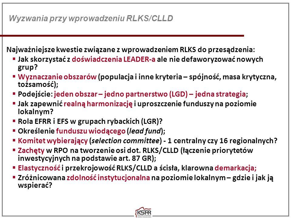 Wyzwania przy wprowadzeniu RLKS/CLLD