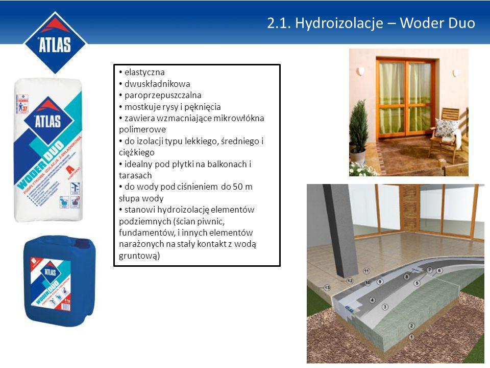 2.1. Hydroizolacje – Woder Duo