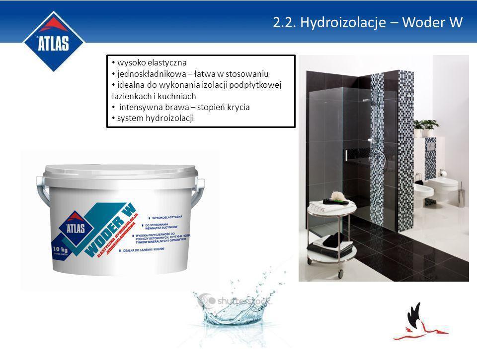 2.2. Hydroizolacje – Woder W