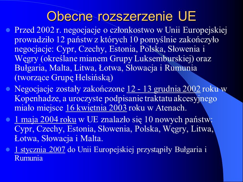 Obecne rozszerzenie UE