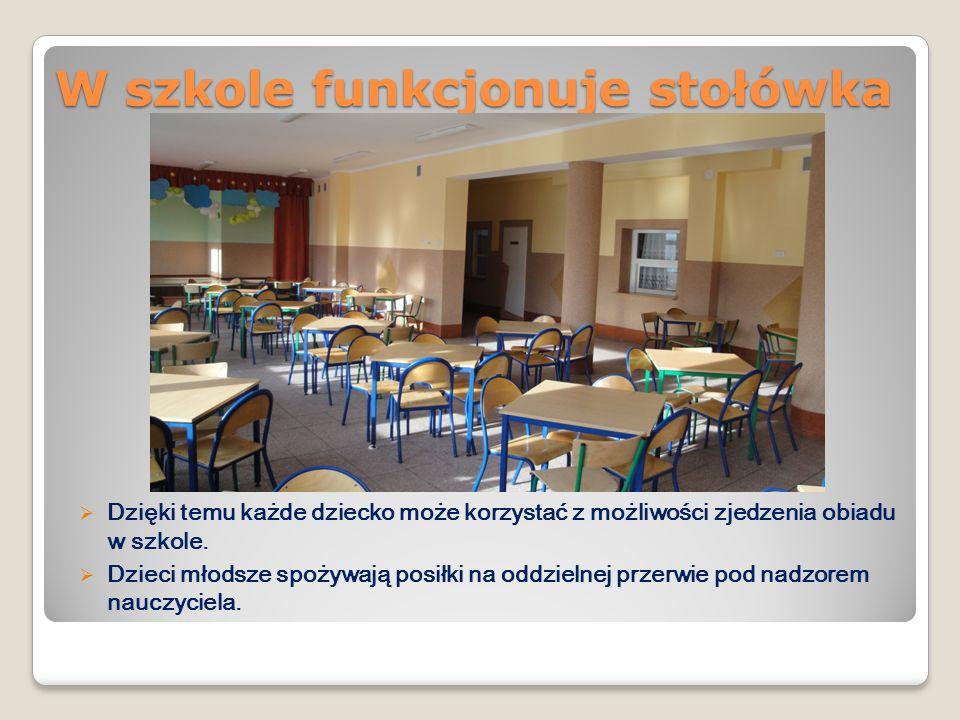 W szkole funkcjonuje stołówka