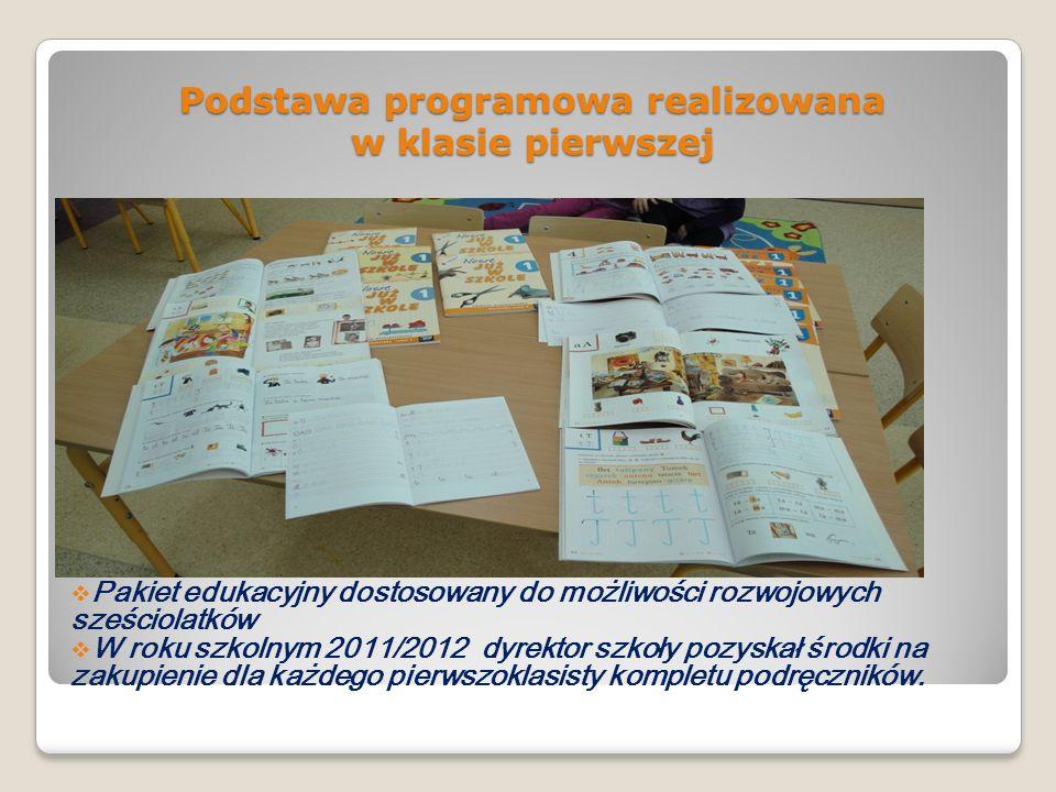 Podstawa programowa realizowana w klasie pierwszej