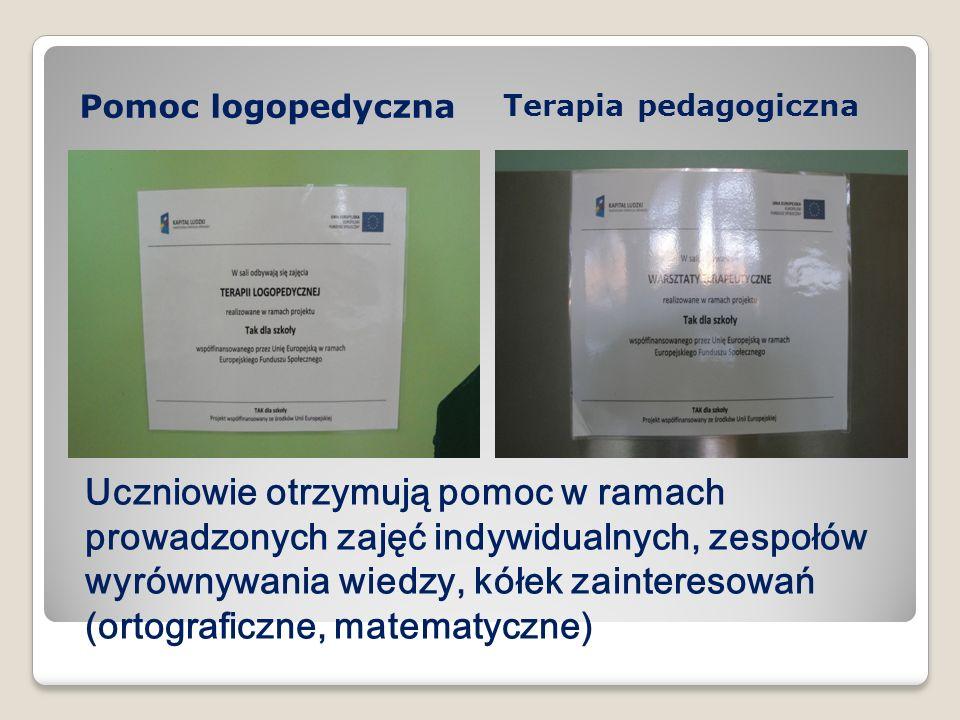 Pomoc logopedycznaTerapia pedagogiczna.