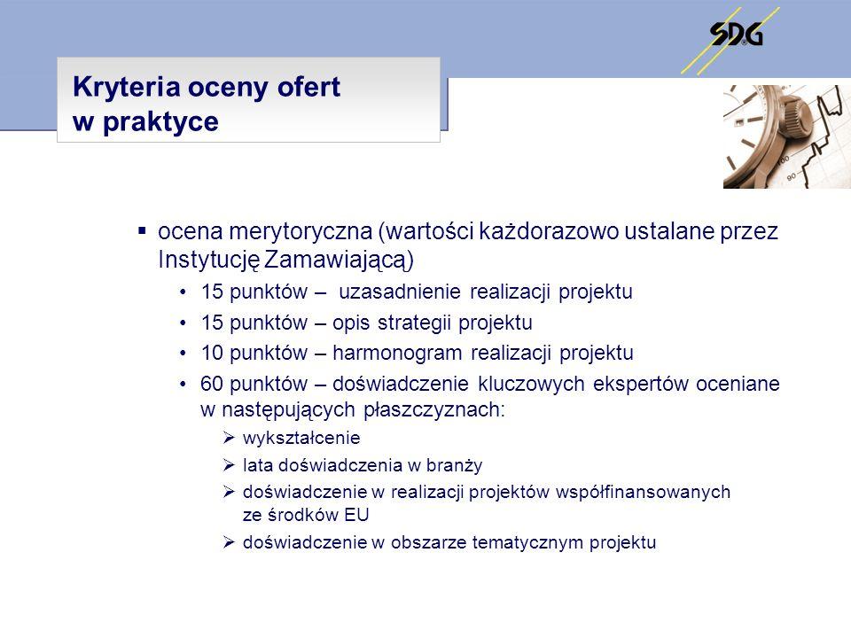 Kryteria oceny ofert w praktyce