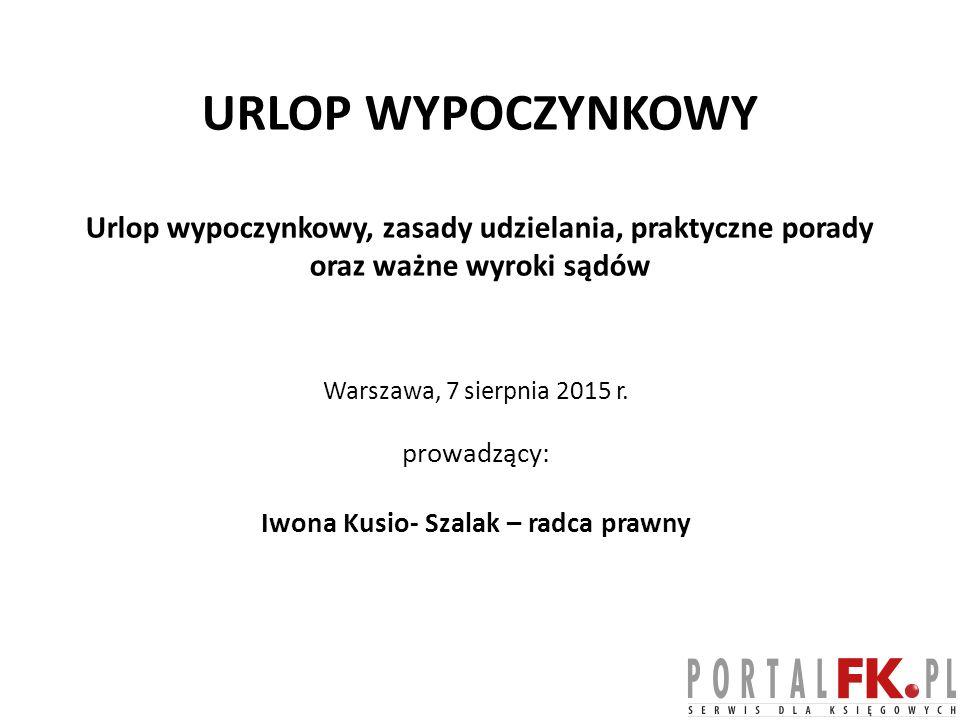 Iwona Kusio- Szalak – radca prawny