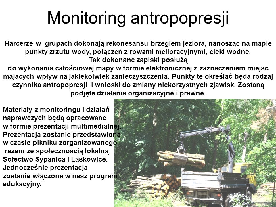Monitoring antropopresji