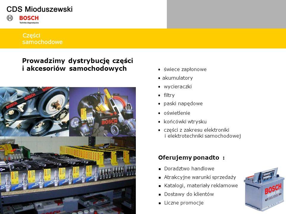 Prowadzimy dystrybucję części i akcesoriów samochodowych