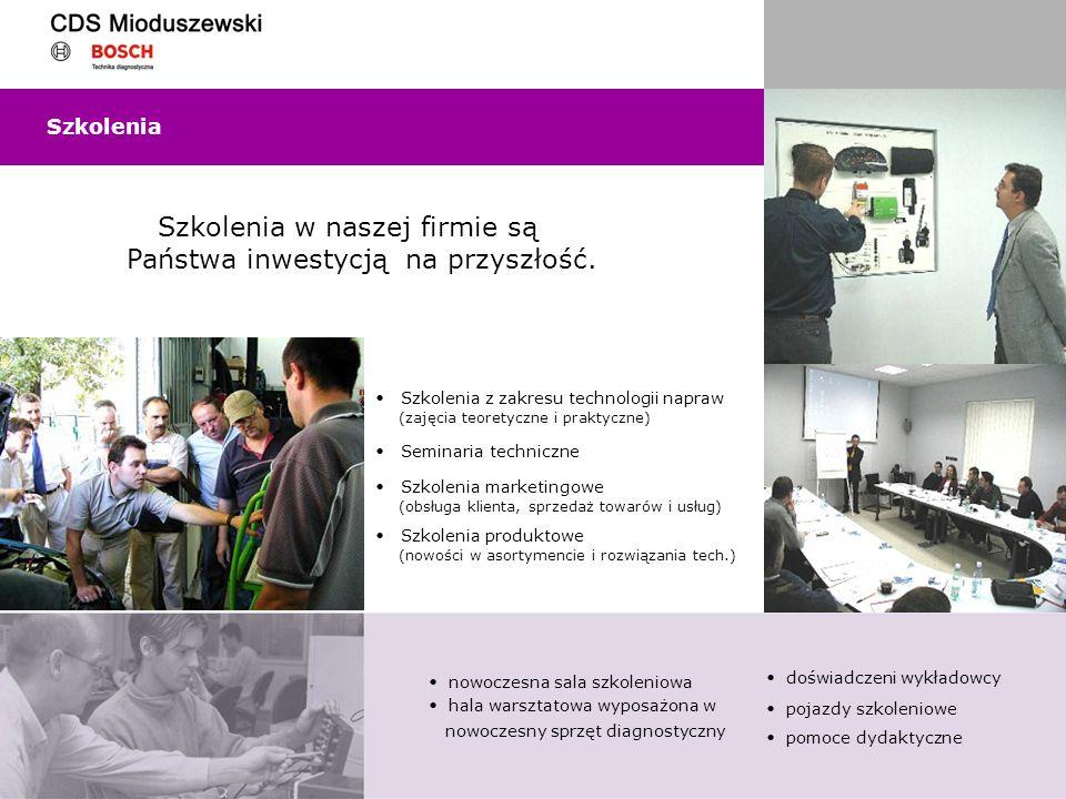 Szkolenia w naszej firmie są Państwa inwestycją na przyszłość.