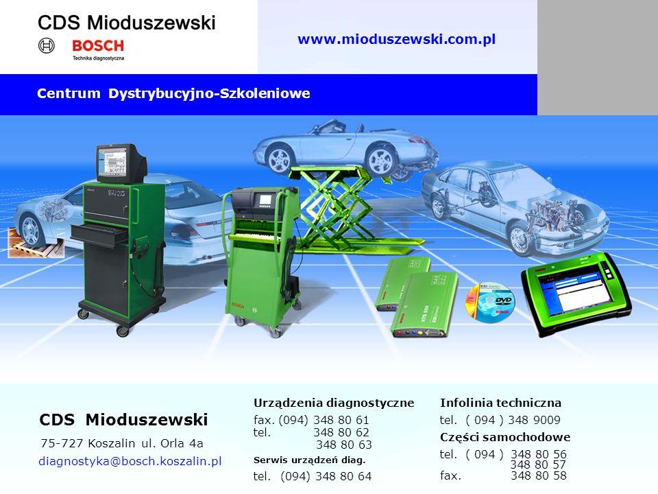 CDS Mioduszewski www.mioduszewski.com.pl 75-727 Koszalin ul. Orla 4a