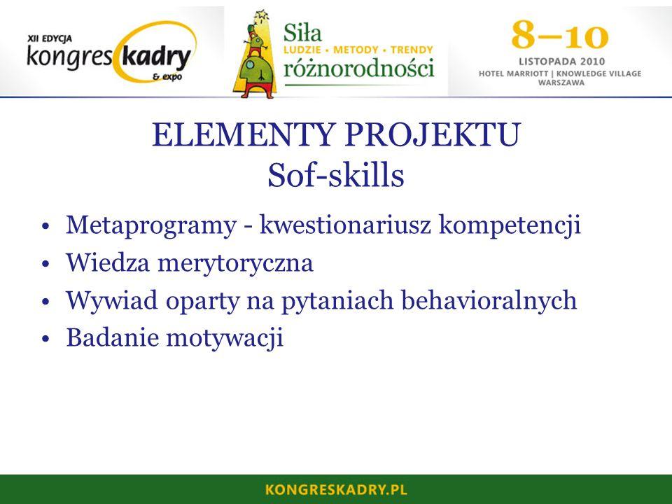 ELEMENTY PROJEKTU Sof-skills