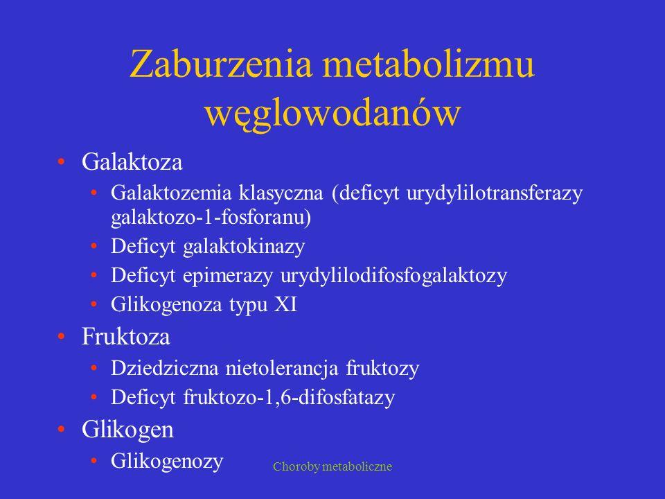 Zaburzenia metabolizmu węglowodanów