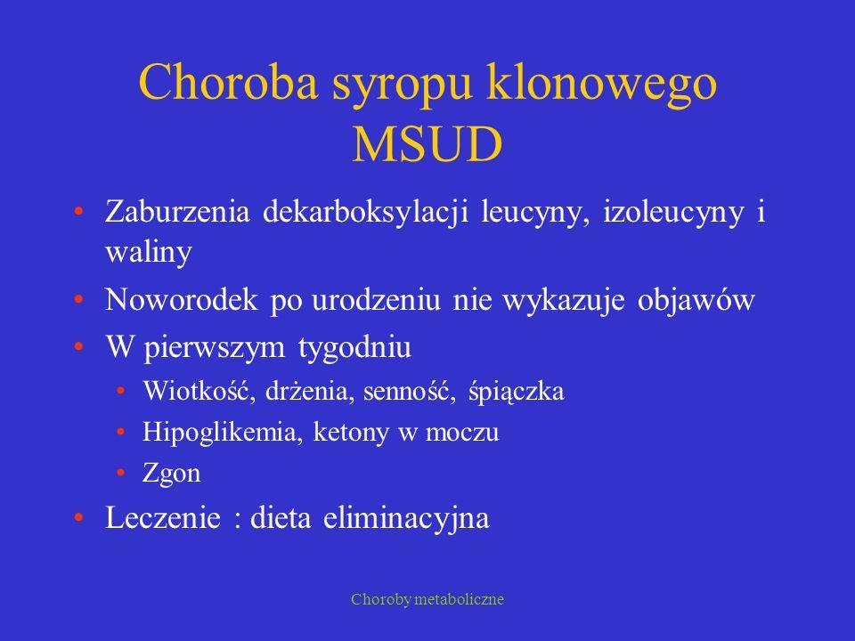 Choroba syropu klonowego MSUD