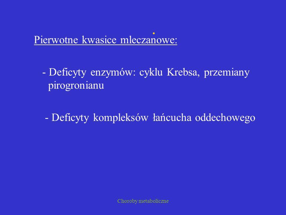 . Pierwotne kwasice mleczanowe: