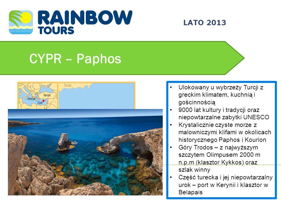 3/24/2017 LATO 2013. CYPR – Paphos. Ulokowany u wybrzeży Turcji z greckim klimatem, kuchnią i gościnnością.