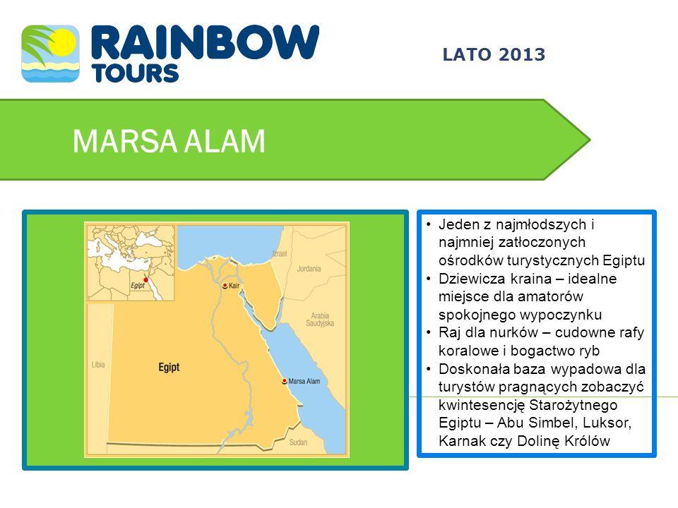 3/24/2017 LATO 2013. MARSA ALAM. Jeden z najmłodszych i najmniej zatłoczonych ośrodków turystycznych Egiptu.