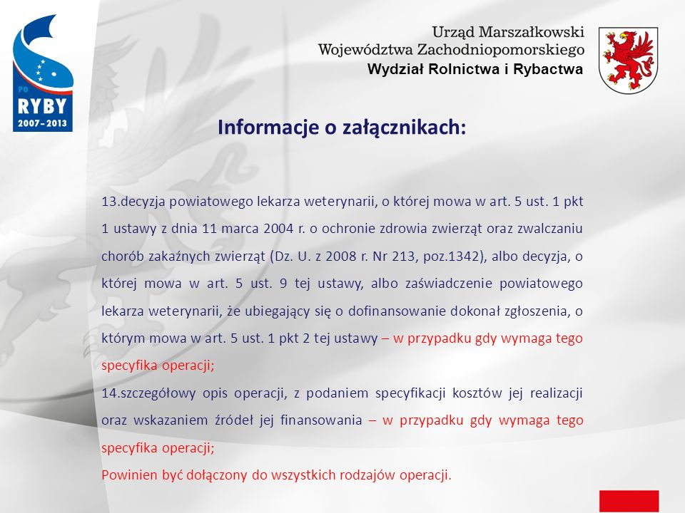 Informacje o załącznikach: