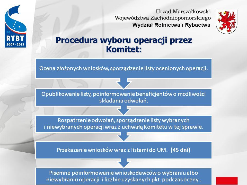 Procedura wyboru operacji przez Komitet: