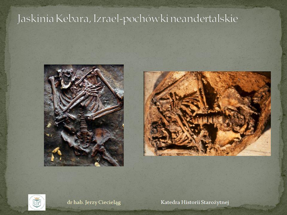 Jaskinia Kebara, Izrael-pochówki neandertalskie