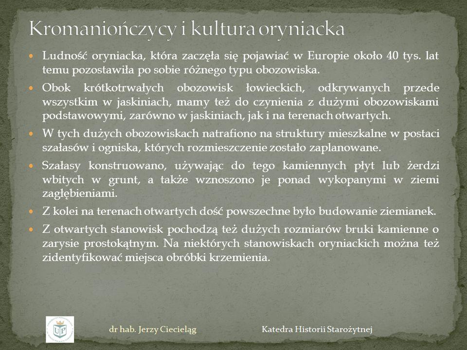 Kromaniończycy i kultura oryniacka