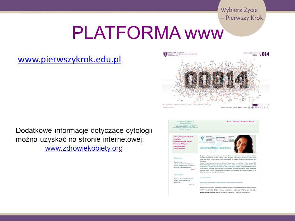 PLATFORMA www www.pierwszykrok.edu.pl