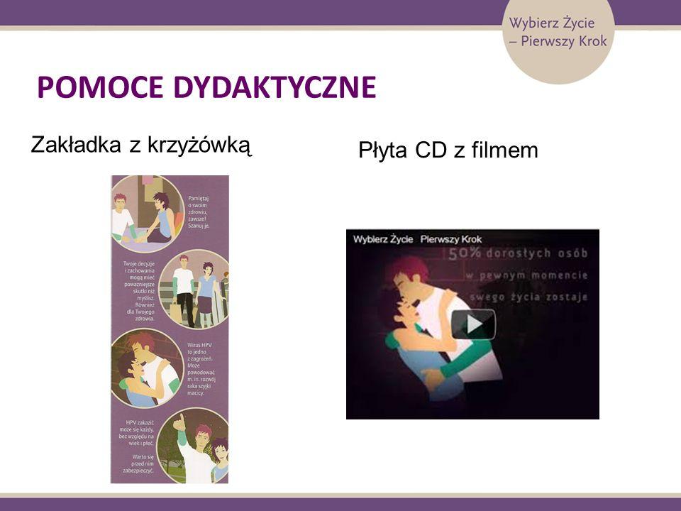 POMOCE DYDAKTYCZNE Zakładka z krzyżówką Płyta CD z filmem