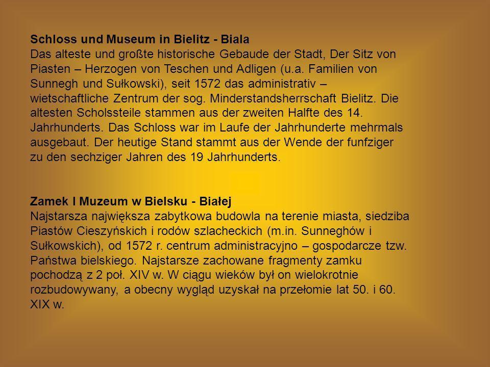 Schloss und Museum in Bielitz - Biala