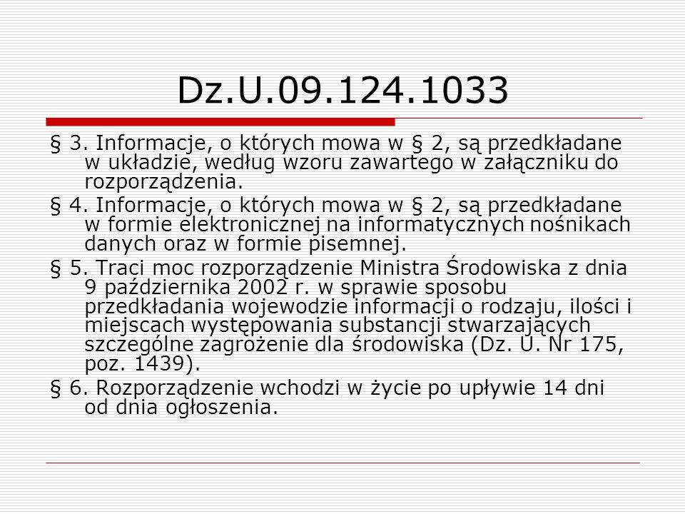 Dz.U.09.124.1033 § 3. Informacje, o których mowa w § 2, są przedkładane w układzie, według wzoru zawartego w załączniku do rozporządzenia.
