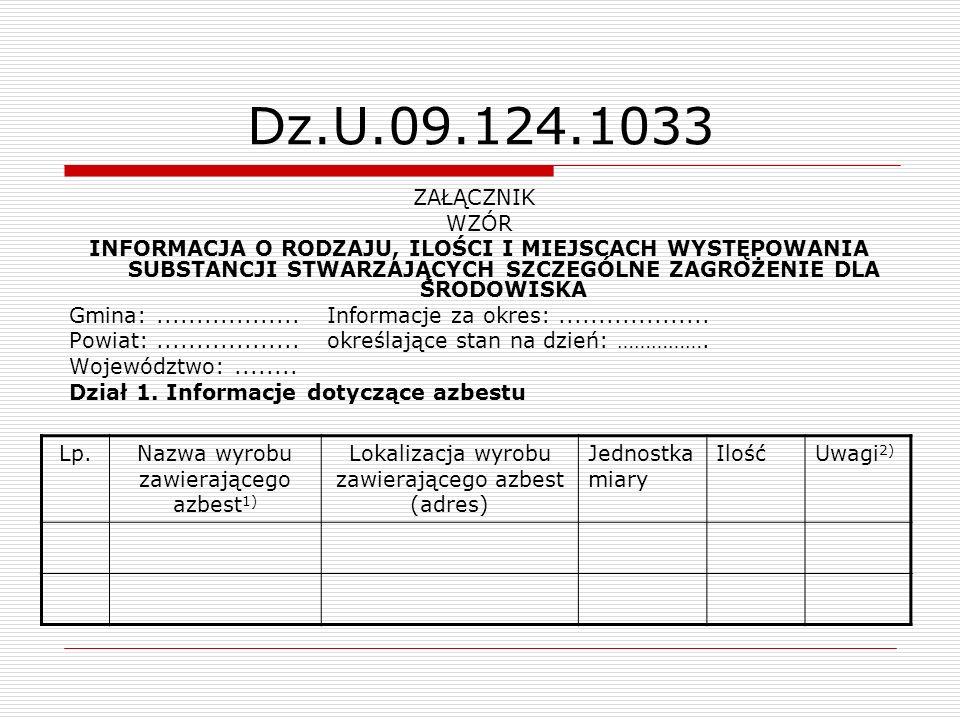 Dz.U.09.124.1033 ZAŁĄCZNIK WZÓR.
