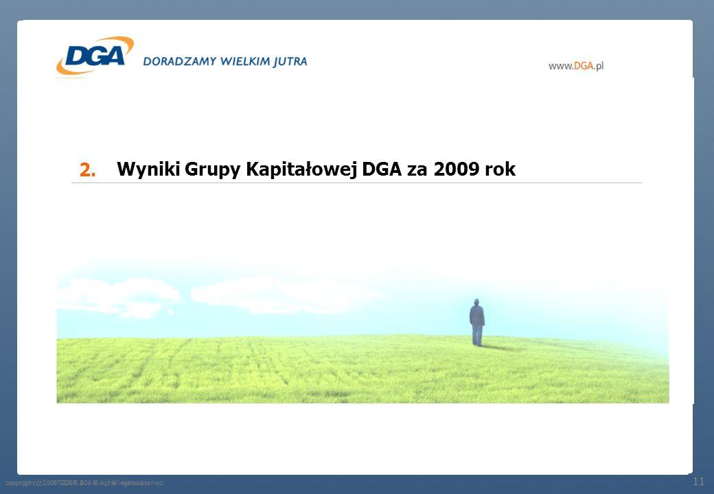 Wyniki Grupy Kapitałowej DGA za 2009 rok
