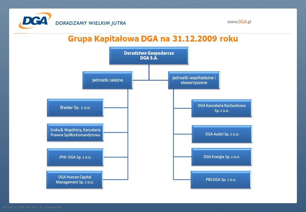 Grupa Kapitałowa DGA na 31.12.2009 roku