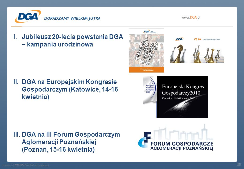 Jubileusz 20-lecia powstania DGA – kampania urodzinowa