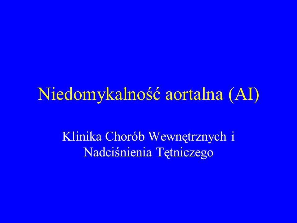Niedomykalność aortalna (AI)