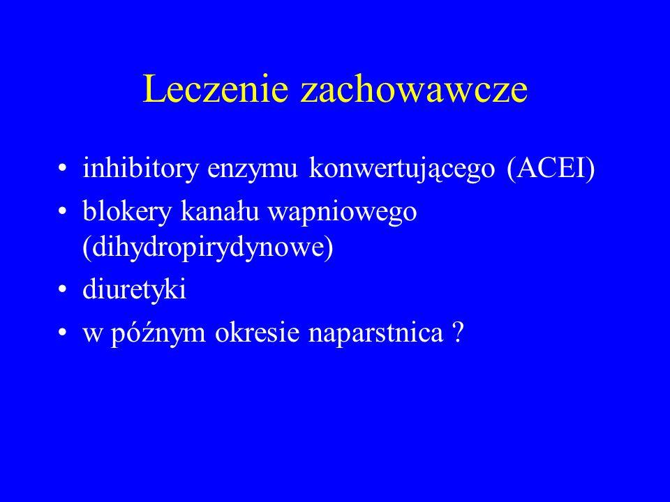 Leczenie zachowawcze inhibitory enzymu konwertującego (ACEI)