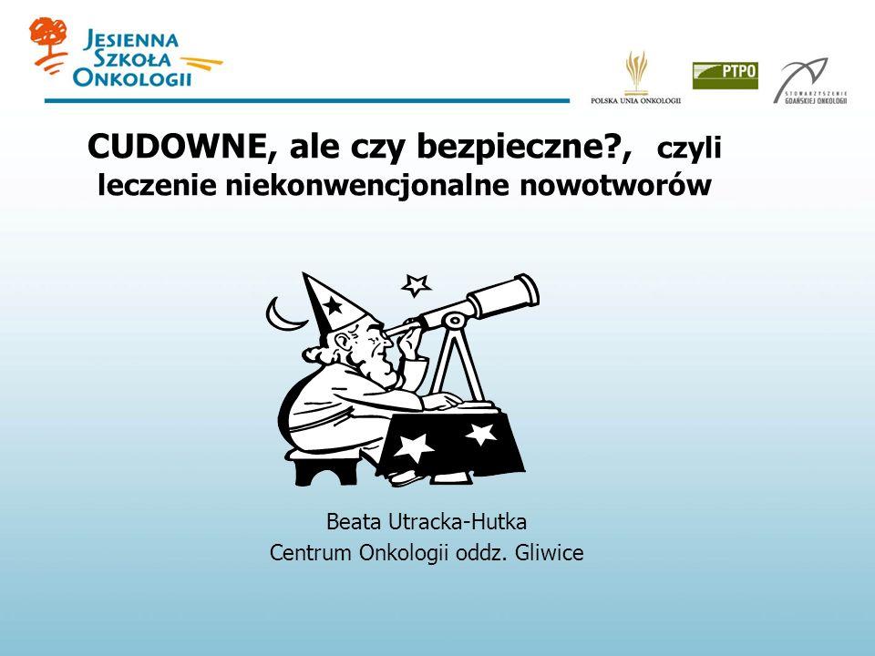 Beata Utracka-Hutka Centrum Onkologii oddz. Gliwice
