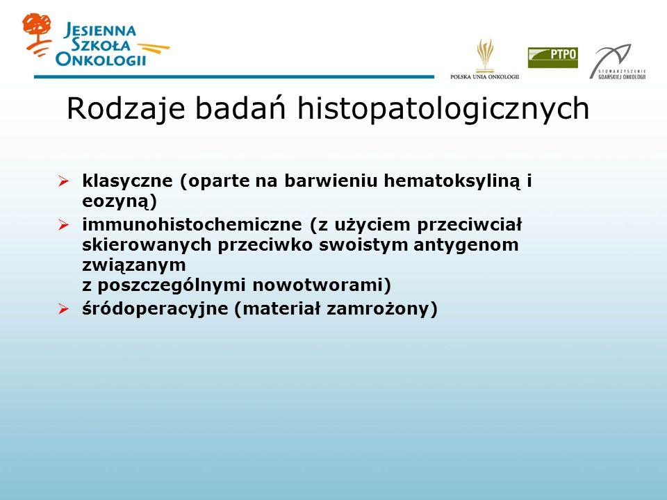 Rodzaje badań histopatologicznych