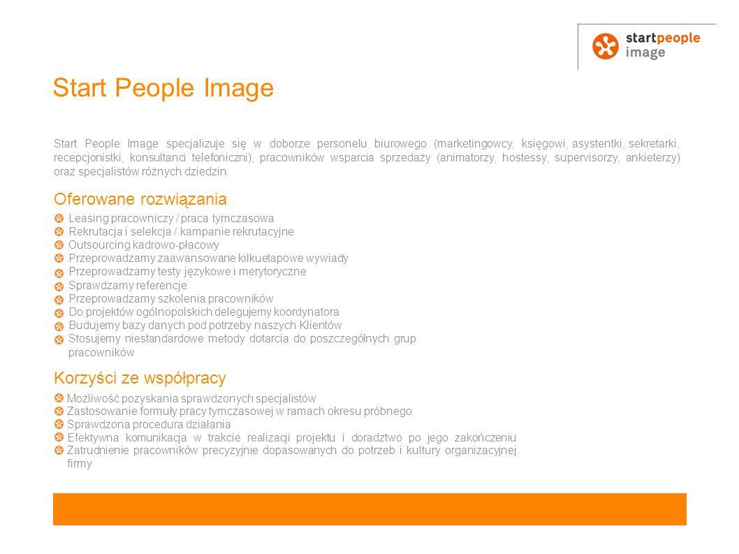 Start People Image Oferowane rozwiązania Korzyści ze współpracy