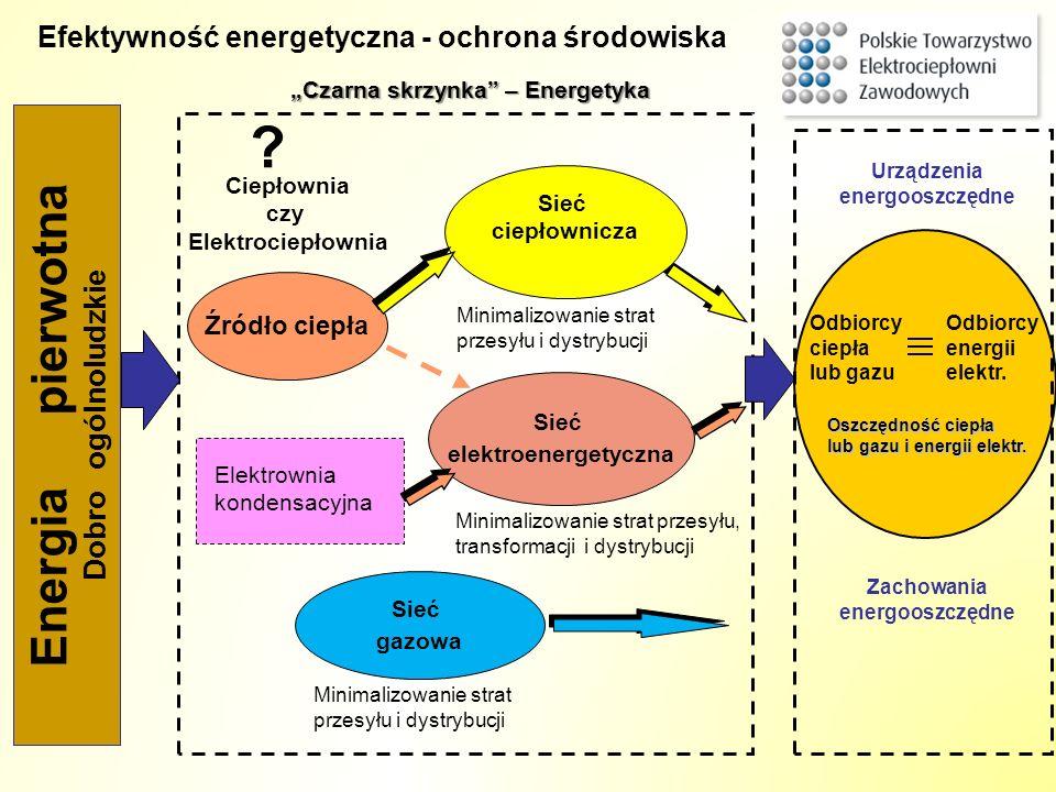 Energia pierwotna Efektywność energetyczna - ochrona środowiska