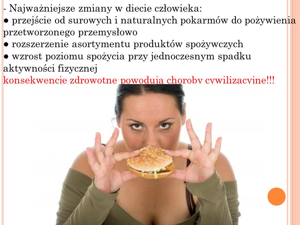 - Najważniejsze zmiany w diecie człowieka: