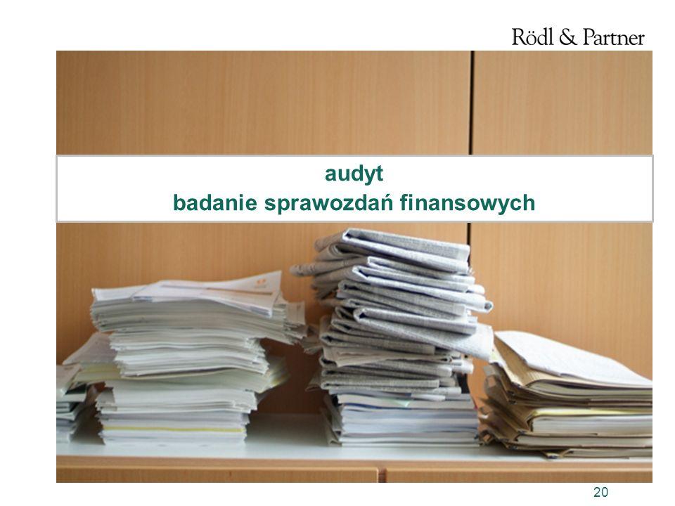 audyt badanie sprawozdań finansowych