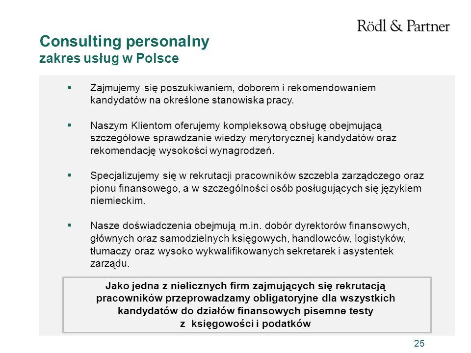 Consulting personalny zakres usług w Polsce
