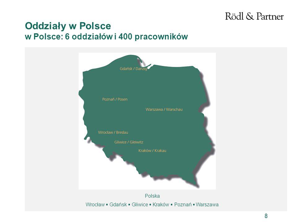 Wrocław  Gdańsk  Gliwice  Kraków  Poznań  Warszawa