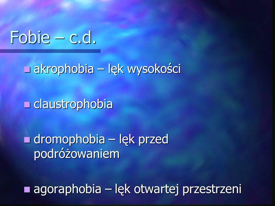 Fobie – c.d. akrophobia – lęk wysokości claustrophobia
