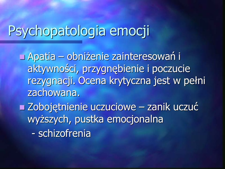 Psychopatologia emocji