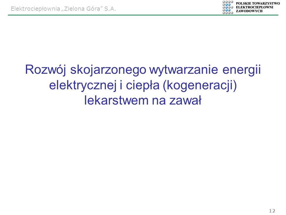 Rozwój skojarzonego wytwarzanie energii elektrycznej i ciepła (kogeneracji) lekarstwem na zawał