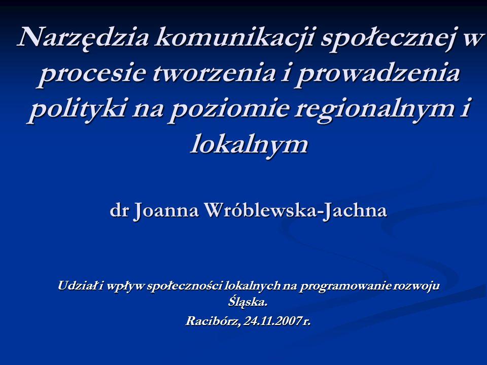 Udział i wpływ społeczności lokalnych na programowanie rozwoju Śląska.
